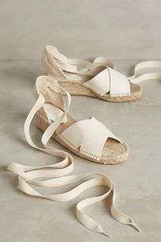 Soludos Tied Espadrilles | Anthropologie