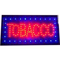 TOBACCO-store-LED-Red-Blue-open-Sign-Smoke-Shop-Cigarette-pipe-Cigar-neon-Light