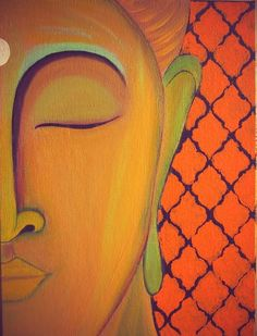 Modern Zen Buddha Spiritual Painting Buddha by ArtbyRangrez, $49.00