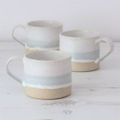 Handmade ceramic mug, pottery mug, grey and white glaze, unglazed base, coffee mug, tea mug, handmade gift, housewarming gift, wedding