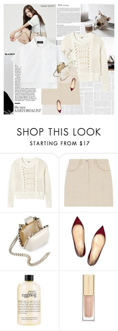 """""""You are where you are today because you've chosen to be there."""" by e-laysian ❤ liked on Polyvore featuring Rebecca Taylor, Valentino, Christian Louboutin, philosophy, Dolce&Gabbana and Korres"""