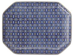 Hanukkah Blue Mosaic Rectangular Platter