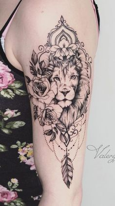 70 female and male lion tattoos TopTattoos # Lion Tattoos # Male # … - tattoo feminina Wolf Tattoos, Lion Head Tattoos, Back Tattoos, Cute Tattoos, Body Art Tattoos, Girl Tattoos, Small Tattoos, Tattoos For Guys, Tattoos For Women