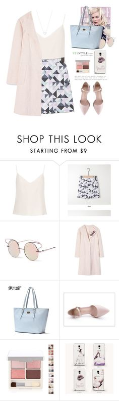 """""""YesStyle - Pastel spring"""" by yexyka ❤ liked on Polyvore featuring Raey, KOON, Tory Burch, Emini House and Tiffany & Co."""