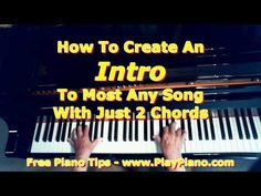 Create a Piano Intro To a Song With Just 2 Chords! | Piano Lessons for Adults