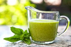 Sweet Basil-Lime Salad Dressing #detox #beauty #recipe via www.accidiosav.com