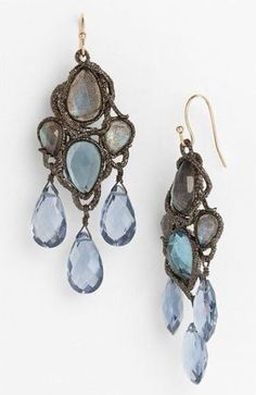 Jewelry Armoire, Jewelry Box, Chandelier Earrings, Dangle Earrings, French Blue, Turquoise, Pearl Diamond, Bohemian Jewelry, Shades Of Blue