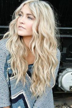 By Morgan Kaiser. #blonde #bombshell #longhairdontcare @Bloom.com