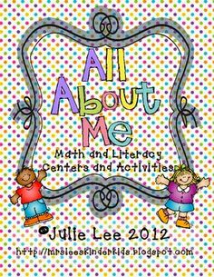 All about me unit integrating math, language arts, and fun!
