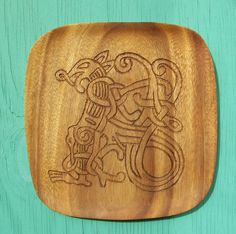 Hand Carved Wall Decor - Viking Animal Knotwork - Borre or Jelling Style Beasts