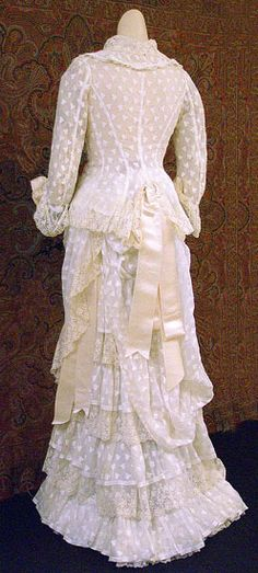 ~Summer dress ca. 1878~  lily's note: front view pinned earlier