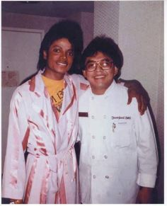 Michael Jackson with Chef Larry Banares from the Thriller Era.