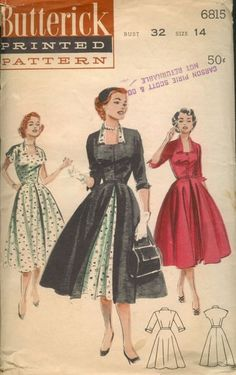 Butterick 6815 A - Vintage Sewing Patterns - Wikia