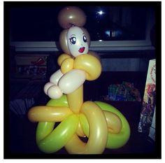 Belle balloon sculpture #belle #beauty and the beast #balloon #sculpture #twist #art #character