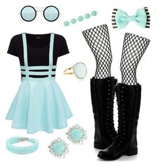 """""""Teal and black vintage outfit"""" by cheerleader7avag ❤ liked on Polyvore featuring Joseph, Topshop, Nature Breeze, Kyme, Swarovski, Accessorize, Nadri, Kendra Scott and vintage"""
