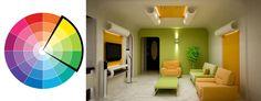 Tips penataan interior dengan menggunakan skema warna analogus yang memberikan kesan ceria, lincah, dan cerah.