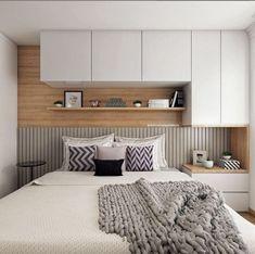 Trendy Home Interior Apartment Headboards Ideas Wardrobe Design Bedroom, Bedroom Bed Design, Small Bedroom Designs, Home Decor Bedroom, Fitted Bedroom Furniture, Fitted Bedrooms, Apartment Interior, Apartment Design, Minimalist Bedroom