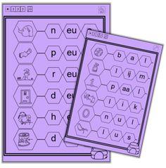 Met klikklakboekje woorden maken en vervolgens de woorden nakijken. Is het goed, mag het woord ingekleurd worden.