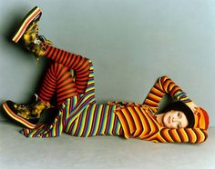 knitGrandeur: Stripe on Stripe- Twiggy 1993