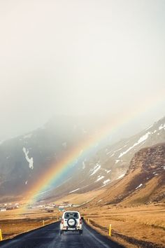 Rainbow in Iceland Iceland Road Trip, Iceland Travel, Landscape Photography, Travel Photography, Aerial Photography, Night Photography, Landscape Photos, Photography Tips, Empire State Building