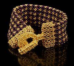 Oriental Lattice Cuff   Manek-Manek, Bead Jewelry, Kits, Patterns & Workshops