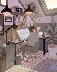 Aesthetic Drawing, Aesthetic Anime, Aesthetic Art, Cute Couple Drawings, Cute Couple Art, Sweet Couple, Liz Clements, Vaporwave Art, Fanart