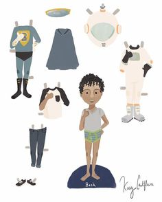 My first ever boy paper doll! This was so stinking fun! Beck's joyful energy was hard to capture but I did my best! @margejacobsen #illustration #digitalillustration #fashionillustration #kaseycauliflowerspaperdolls #creativepreneur #customportrait