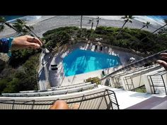 Dude Sneaks Into A Hotel Just To Jump Off A Balcony Into A Pool - Digg