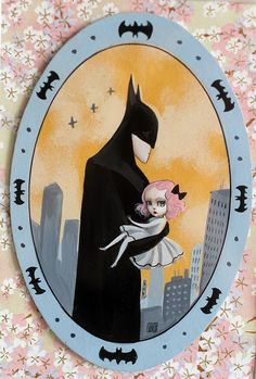 """The original """"We Love You Batman"""" painting by Mab Graves by mab graves, via Flickr"""