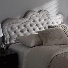 Contemporary Fabric Headboard by Baxton Studio (Beige - Beige Finish - Queen)