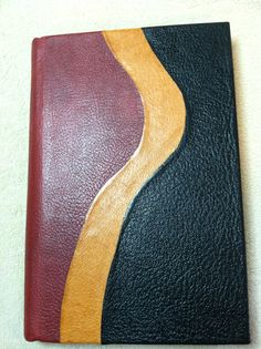 Tri-Color leather blank journal, made by Roxanne Bedard