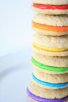 Double Vanilla Delights~Rainbow Cookies