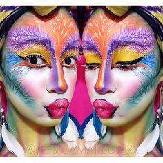 Bird Of Paradise Makeup - Face paint - SFX makeup - @Jessicamakeup_xx