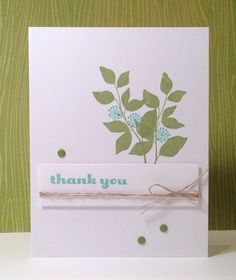 Stampin' Up Summer Silhouettes Thank You handmade card.