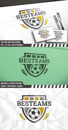 Football Emblem Logo Template PSD, Vector EPS, AI Illustrator. Download here: http://graphicriver.net/item/football-emblem-logo/16596452?ref=ksioks