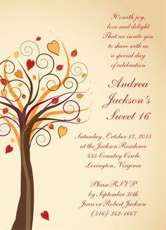 "Breezy Party Invitation. 4 7/8"" x 6 3/4""."