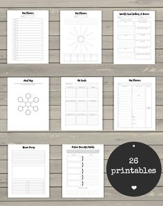ULTIMATE LIFE BINDER - includes and printable kits! Are you ready to have more focus and make more progress? I designed this Ultimate routine schedule Ultimate Life Binder™ - Minimalist Edition, US Letter, Printable Planner Budget, Goals Planner, Blog Planner, Life Planner, Binder Planner, Fitness Planner, Fitness Calendar, Fitness Binder, Week Planner