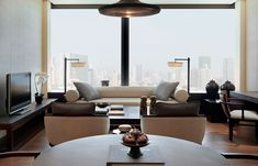The PuLi Hotel and Spa Shanghai, China. © The PuLi Hotel and Spa. Puli Hotel Shanghai, Home Living Room, Living Spaces, Hotel Sweet, Public Hotel, Contemporary Lounge, Hotel Interiors, Hotel Suites, Lounge Areas