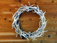 Antler Wreath - So making this someday!!