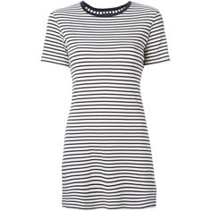 Theory Striped T-Shirt ($140) ❤ liked on Polyvore