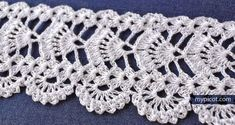 MyPicot is always looking for excellence and intends to be the most authentic, creative, and innovative advanced crochet laboratory in the world. Picot Crochet, Stitch Crochet, Crochet Lace Edging, Crochet Motifs, Crochet Borders, Crochet Stitches Patterns, Freeform Crochet, Thread Crochet, Crochet Trim
