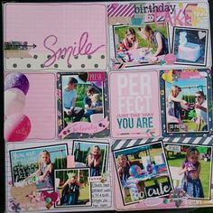 """Project life layout by Beth Moloney using Simple Stories """"So Fancy"""" collection"""