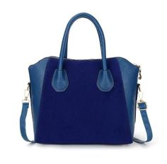 HOT! Fashion bags women's nubuck leather patchwork handbag smiley bag women shoulder bag women's bags