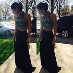 New Arrival Prom Dress,High Neck Prom Dress,Deading Prom Dress,A-Line Prom…