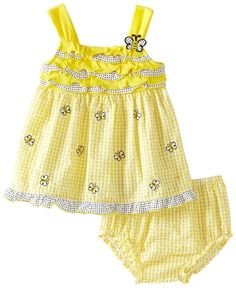 Infant Sleeveless Bumble Bee Sundress:  24 Months. $14.40