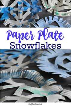 Paper Plate Snowflakes - fun spin on classic paper snowflakes!