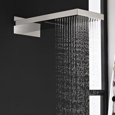 Soffione Doccia Rettangolare con Funzione a Cascata e Pioggia 500mm x 200mm e Braccio Integrato - Image 1