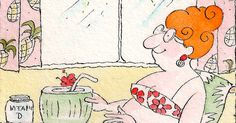 Sunbathing on the wrong side of a window does not lead to more vitamin D in the body. (Illustration: Victoria Roberts)