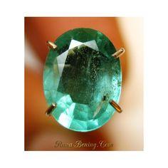 Batu Mulia Zamrud Hijau Bening Oval Cut 1.29 Carat Kualitas Pilihan