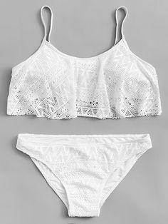 1b9f09190c Hollow-Out Bikini Set Lace Bikini, Bikini Set, Bikini Tops, Plus Size